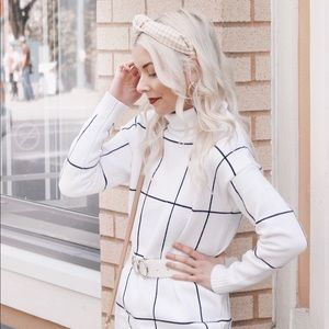 Chicwish Grid Sweater Dress